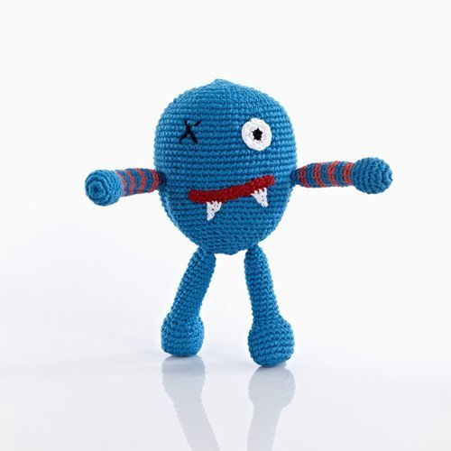 Chubby Monster Rattle - Blue - 1
