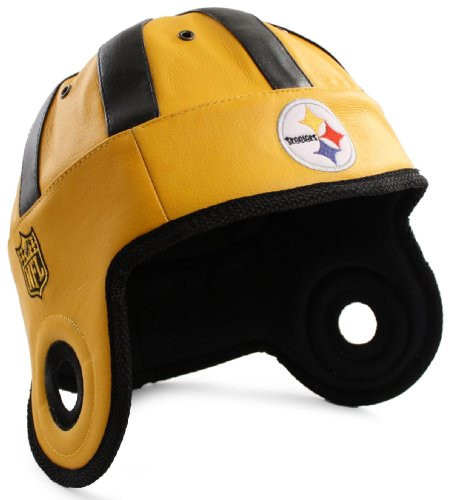 NFL Pittsburgh Steelers Faux Leather Helmet Head (Gold )