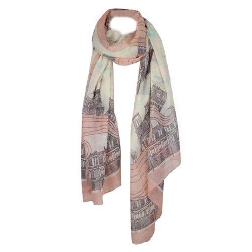 Tangda Women Fashion Eiffel Tower Pattern Long Muffler Shawl Scarf Wraps