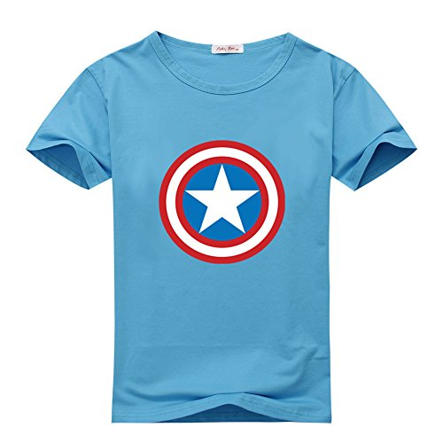 DanielSanta Kids Captain America Film T-shirts - Pattern 3