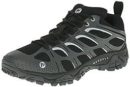 Merrell Men\'s Moab Edge Hiking Shoe, Black/Grey, 9.5 M US