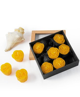 Grehom Scented Candles - Orange Roses Beautiful Gift Set Of 9 Handmade Floating Candles Exclusive Wedding Gift Delivered In An Elegant Gift Box from Grehom