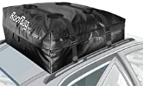 Roofbag 15 cu. ft. BK - WW-r-15-BK - Fully Waterproof Car Top Carrier for cars WITH Rack Includes 2 Straps for Rack, Storage Pouch,and non-Scratch non-slip Protective Mat