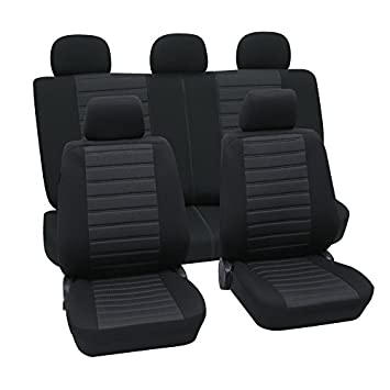 Schwarz Effekt 3D Sitzbezüge für ALFA ROMEO 155 Autositzbezug VORNE