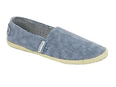 Mens Dunlop Canvas Plimsoles/ Espadrilles/ Deck Pumps Blue
