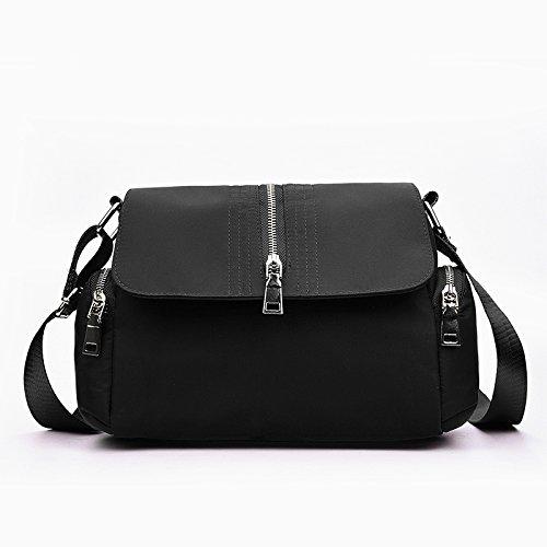 La versione coreana di singole donne borsa a tracolla pacchetto è cross-package tela panno di Oxford, Sig.ra pacchetto Svago Mama package , nero