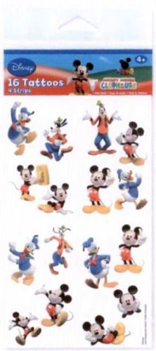 Disney's Mickey Mouse & Friends Party Supplies Tattoos 16ct Sheet