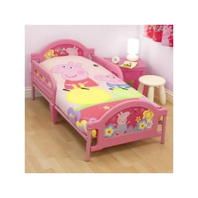 Ready Steady Bed Kids Peppa Pig Adorable Toddler Junior Cot Bed With Mattress