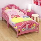 Ready Steady Bed Kids Peppa Pig Adorable Toddler Junior Cot Bed 75cm x 146cm Approx.