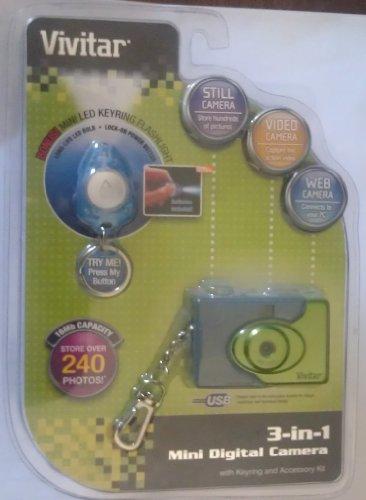Vivitar 3-in-1 Mini Digital Camera with Flashlight - Blue - 1