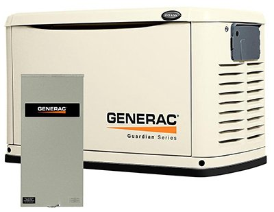 Guardian 6729 Generac 20Kw Home Standby Generator With 200-Amp Service Rated Transfer Switch