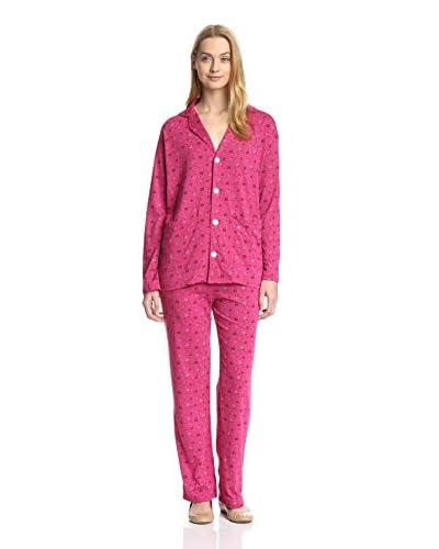 Aegean Apparel Women's Bouquet Print Pajama Set