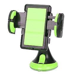 360 Rotating Universal Car Windshield Mobile Smartphone PDA GPS Mount Holder (Black Green)
