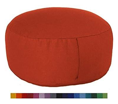 maylow - Yoga mit Herz ® Meditationskissen - Yogakissen Bio-Dinkelspelz Premium 100% Baumwolle - 33 x 12 cm