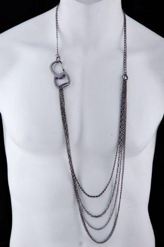 DyOh Spiritual Jewelry Collection - Multi Chain Anti Silver Necklace