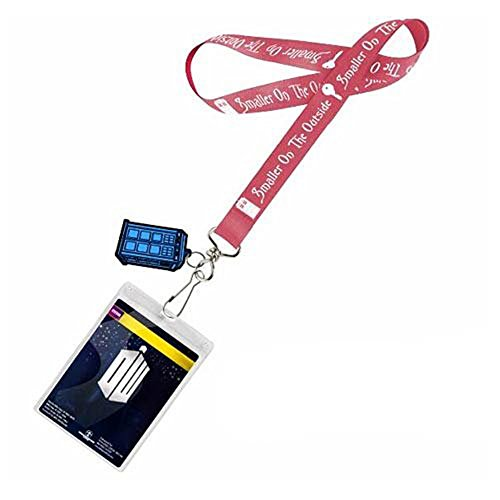 Doctor Who Smaller on the Outside Lanyard with 2D TARDIS Charm