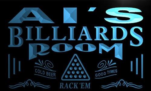 pj433-b AL's Billiards Room Rack 'em Bar Beer Neon Light Sign