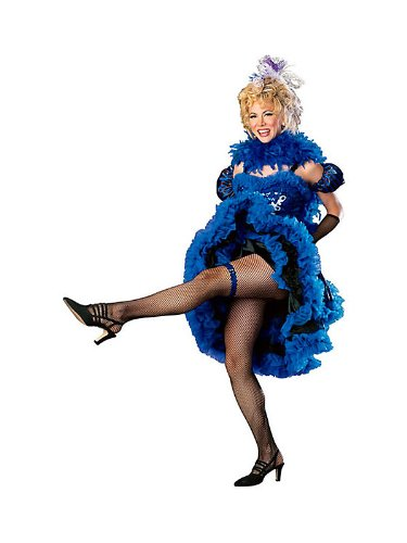 Cancan Girl Blue Womens Costume