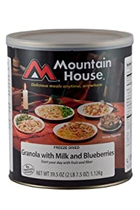 Mountain House #10 Can Granola with Blueberries & Milk (20 -1/2 cup servings)