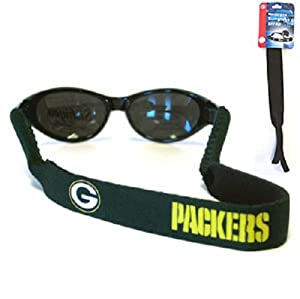 Buy Green Bay Packers Neoprene Strap Holder Croakies for Sunglasses or Eyeglasses Officially Licensed NFL Football Team Logo by Siskiyou