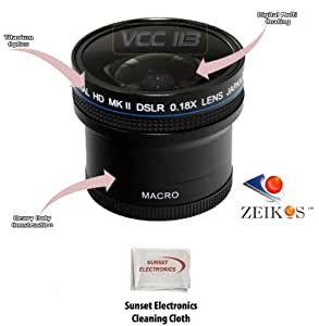 0.18x Wide Angle Fisheye Lens With Macro lens For The Sony Alpha DSLR-A330 DSLR-A230 DSLR-A200 DSLR-A300 DSLR-A350 DSLR-A380 DSLR-A700 DSLR-A100 This lens works with the following 55MM Lenses Sony 18-70mm, 55-200mm, 75-300mm, SAL-35F14G 35mm, SAL-50F 14 50mm, SAL-100M28 100mm, SAL-50M28 50mm