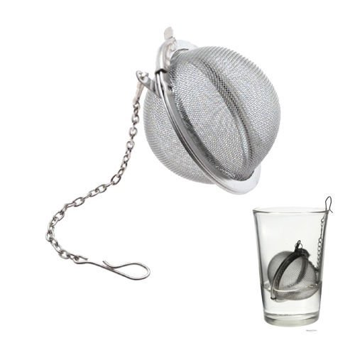 Stainless Steel Mesh Tea Ball - Easy To Remove From Hot Water
