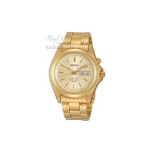 Seiko Gents Kinetic Watch with Champagne Dial