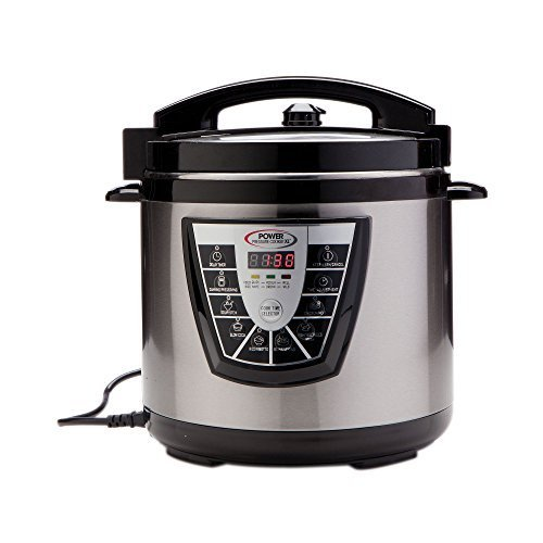 Power Pressure Cooker XL 8 Quart, Digital Non Stick Stainless Steel Steam Slow Cooker and Canner by Power Pressure Cooker XL (Lid For Power Pressure Cooker Xl compare prices)