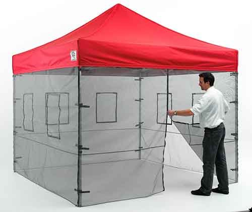 Impact Canopies 10' Vendor Food Mesh Walls Sidewall Canopy Kit (Walls Only)