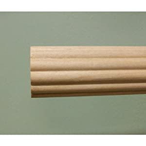 wood fluted drapery rod unfinished 8 39 long discount available
