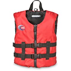Buy MTI Adventurewear Livery PFD Life Jacket (Red, Child Size 30-50-Pound) by MTI Adventurewear