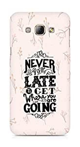 AMEZ never to late to reach where you are going Back Cover For Samsung Galaxy A8