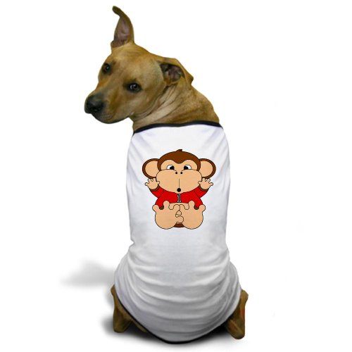 Cafepress One Year Old Monkey Dog T-Shirt - 3Xl White [Misc.] back-486783