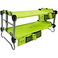 Disc-O-Bed Youth Kid-O-Bunk with Organizers (Lime Green)