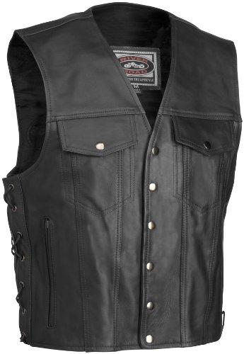 River Road Frontier Leather Vest , Size: Md, Gender: Mens/Unisex, Primary Color: Black XF09-1696