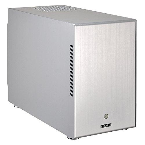Lian Li アルミニウム製MicroATX対応ミニタワーPCケース 高さ32cm ホットスワップベイ5基 シルバー PC-M25A 正規代理店品