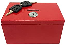 Sandusky Buddy Products Stamp And Coin Box, Red (0505-R)