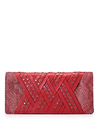 Jasbir Gill Women's Clutch Red Snake Print (JG/SL/CL197)
