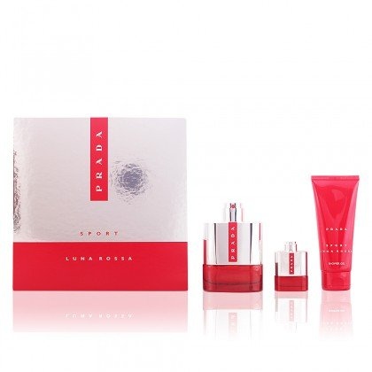 Prada Luna Rossa Sport, Set di 100 ml Eau de Toilette + 100ml Gel Doccia + 9 ml edt Miniatur Spray