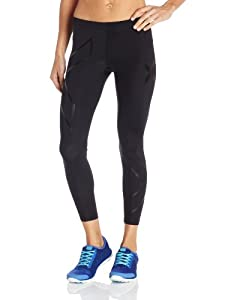 2XU Ladies Compression Tights, Black Nero, Large by 2XU