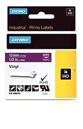 DYMO Rhino Adhesive Vinyl Label Tape, 1/2-inch, 18-foot Cassette, Purple (1805415)