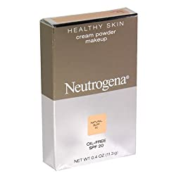 Neutrogena Healthy Skin Oil-Free Cream Powder Makeup, Natural Buff, 0.4 oz