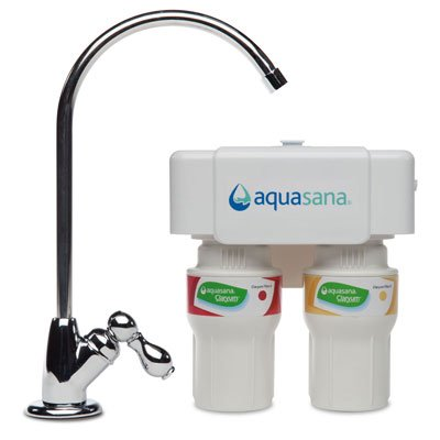 Aquasana AQ-5200.56  2-Stage Under Counter Water Filter System with Chrome Faucet