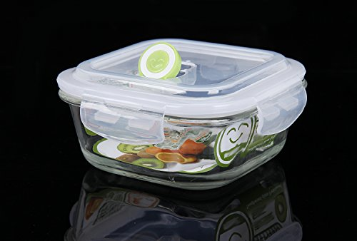 shazinna toughened glass leakproof bento lunch box container for kids and adults white food. Black Bedroom Furniture Sets. Home Design Ideas