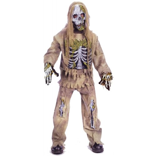 Fun World Skeleton Zombie Child Costume, Medium (8-10)