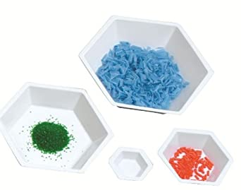 Heathrow Scientific Polystyrene Hexagonal Weighing Boat, White (Pack of 500)