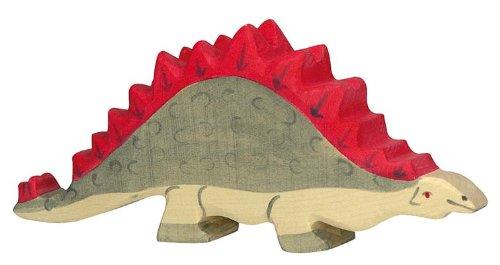 Holztiger Stegosaurus Wooden Figure - 1