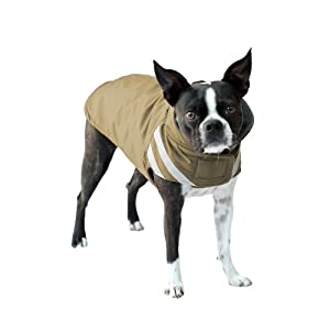 Scooter's Friends Winter Parka Dog Coat, Size 30, Golden Tan