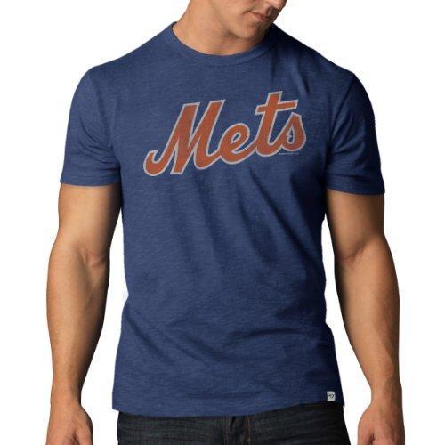 MLB New York Mets Men's '47 Basic Scrum Tee, Bleacher Blue, X-Large (Mlb Men Jersey New York compare prices)
