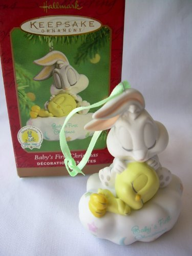 2001 Hallmark Ornament Baby's First Christmas Baby Looney Tunes - 1